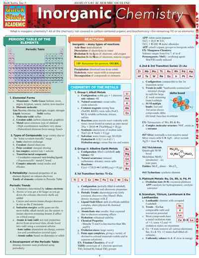 Inorganic Chemistry By Barcharts, Inc. (COR)